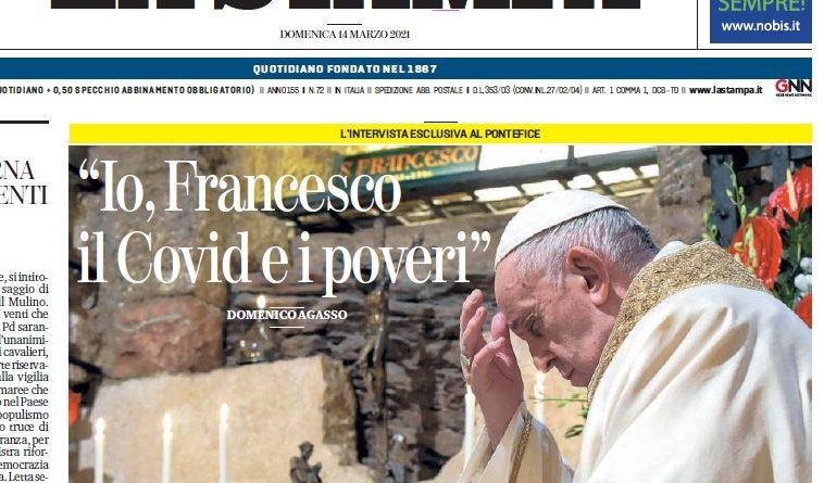 """Papa Francesco: """"Ecologia e solidarietà i pilastri del nuovo mondo"""""""